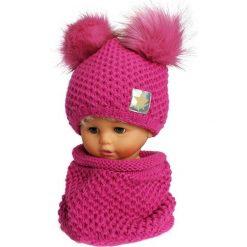 Czapka dziecięca z kominkiem CZ+K 173D. Różowe czapki dla dzieci Proman. Za 61.61 zł.