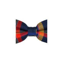 Mucha gotowa bowstyle Kolorowa kratka. Brązowe krawaty i muchy Bowstyle, w kolorowe wzory, z tkaniny. Za 75.00 zł.