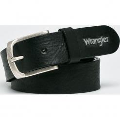 Wrangler - Pasek skórzany. Czarne paski damskie Wrangler, w paski, z materiału. Za 189.90 zł.