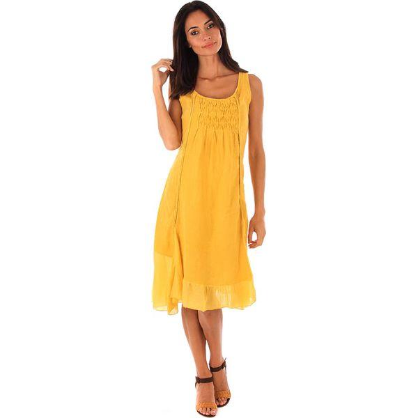 64d199666f Lniana sukienka