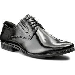 Półbuty LASOCKI FOR MEN - MI08-C345-383-05 Czarny. Czarne eleganckie półbuty Lasocki For Men, z materiału. Za 199.99 zł.