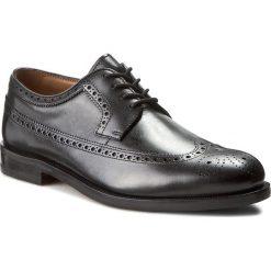 Półbuty CLARKS - Coling Limit 261193767 Black Leather. Czarne eleganckie półbuty Clarks, ze skóry. W wyprzedaży za 439.00 zł.