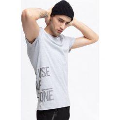 T-shirt męski TSM255 - szary melanż. T-shirty męskie marki Giacomo Conti. Za 59.99 zł.