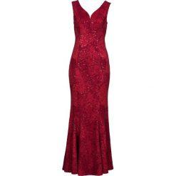 Sukienka wieczorowa bonprix czerwony. Czerwone sukienki damskie bonprix, wizytowe, z długim rękawem. Za 269.99 zł.