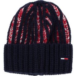Czapka TOMMY JEANS - Tjw Heavy Knit Beani AW0AW05988 901. Czerwone czapki i kapelusze damskie Tommy Jeans, z jeansu. Za 229.00 zł.