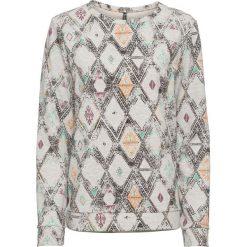 Bluza dresowa bonprix jasnoszary melanż z nadrukiem. Szare bluzy damskie marki Sinsay, z motywem z bajki. Za 49.99 zł.