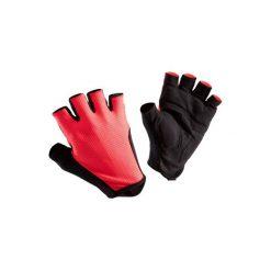 Rękawiczki na rower ROADR 500. Czerwone rękawiczki damskie B'TWIN, z materiału. W wyprzedaży za 19.99 zł.