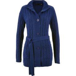 Długi sweter rozpinany bonprix kobaltowy. Kardigany damskie marki bonprix. Za 79.99 zł.