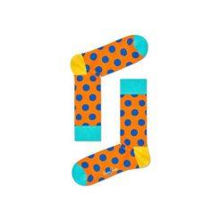 Skarpetki Happy Socks - Big Dot (BDO01-2003). Białe skarpety męskie Happy Socks, w kolorowe wzory, z bawełny. Za 34.90 zł.