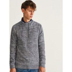 Sweter z kołnierzem - Granatowy. Niebieskie swetry przez głowę męskie Reserved. Za 139.99 zł.