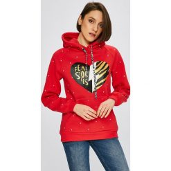 Femi Stories - Bluza Glossi. Czerwone bluzy damskie Femi Stories, z nadrukiem, z bawełny. W wyprzedaży za 239.90 zł.