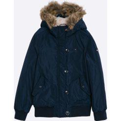 Tommy Hilfiger - Kurtka dziecięca 128-164 cm. Szare kurtki i płaszcze dla dziewczynek Tommy Hilfiger, z bawełny. W wyprzedaży za 449.90 zł.