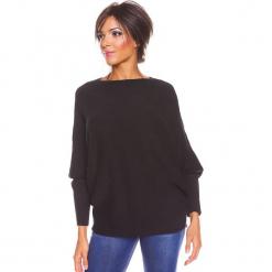 """Sweter """"Edwidge"""" w kolorze czarnym. Czarne swetry damskie So Cachemire, z kaszmiru, z dekoltem w łódkę. W wyprzedaży za 173.95 zł."""