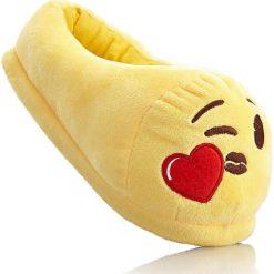 Kapcie Emoji bonprix żółty. Żółte kapcie damskie bonprix. Za 54.99 zł.