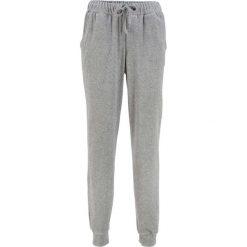 Spodnie dresowe z dzianiny welurowej nicki bonprix jasnoszary melanż. Szare spodnie dresowe damskie bonprix, melanż, z dresówki. Za 69.99 zł.