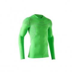 Koszulka termoaktywna długi rękaw dla dorosłych Kipsta Keepdry 500. Zielone koszulki sportowe męskie KIPSTA, z elastanu, z długim rękawem. Za 49.99 zł.