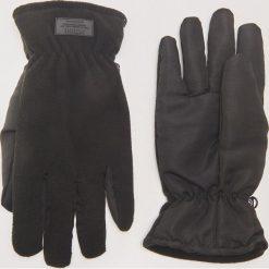 Rękawiczki z łączonych materiałów - Czarny. Czarne rękawiczki męskie House, z materiału. Za 59.99 zł.