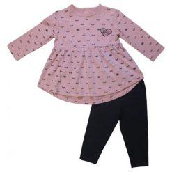 Carodel Zestaw Tunika + Legginsy 62 Różowy/Niebieski. Bluzki dla dziewczynek marki OROKS. Za 49.00 zł.