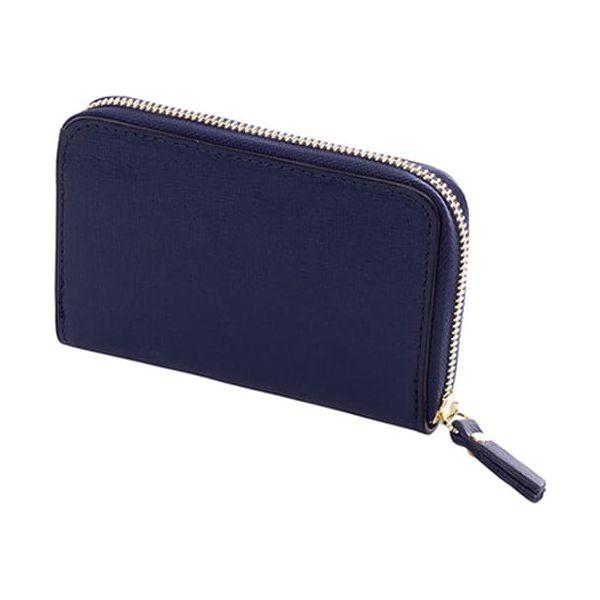 5c50827ce914f Skórzany portfel w kolorze niebieskim - (S)15 x (W)10 x (G)2 cm ...