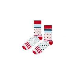 Skarpetki Red Stripes N Dots. Niebieskie skarpety męskie marki Soxstory, z napisami. Za 16.00 zł.