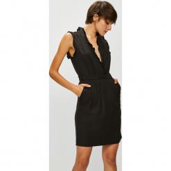 Vero Moda - Sukienka. Brązowe sukienki damskie Vero Moda, z elastanu, casualowe. W wyprzedaży za 129.90 zł.