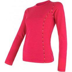 Sensor Damska Koszulka Merino Air Magenta M. Czerwone koszulki sportowe damskie Sensor, z materiału, z długim rękawem. Za 209.00 zł.