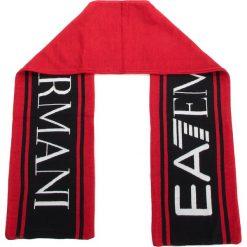 Szal EA7 EMPORIO ARMANI - 275815 8A306 00074 Rosso. Szare szaliki i chusty damskie marki Giacomo Conti, na zimę, z tkaniny. W wyprzedaży za 279.00 zł.