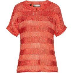 Sweter ażurowy bonprix pomarańczowo-złoty. Swetry damskie marki bonprix. Za 109.99 zł.
