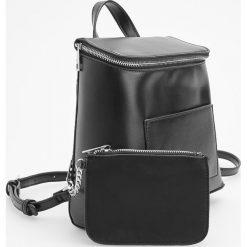 Plecak z dodatkową saszetką - Czarny. Czarne plecaki damskie Reserved. Za 119.99 zł.