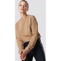NA-KD Basic Bluza basic - Brown,Beige. Brązowe bluzy damskie NA-KD Basic, prążkowane. Za 100.95 zł.