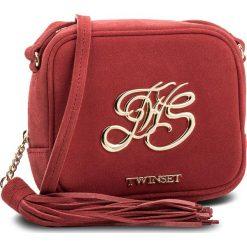 Torebka TWINSET - Mini Tracolla OS8TEB Rubino 00045. Czerwone listonoszki damskie Twinset, ze skóry. W wyprzedaży za 409.00 zł.