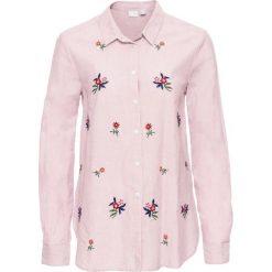 Koszula z kwiatowym haftem bonprix jasnoróżowy. Koszule damskie marki SOLOGNAC. Za 79.99 zł.