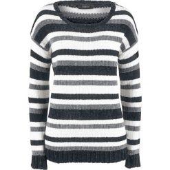 Sweter w paski bonprix czarny + w paski. Swetry damskie marki KALENJI. Za 69.99 zł.