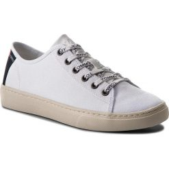Tenisówki TOMMY JEANS - Light Textile Low EM0EM00102 White 100. Białe trampki męskie Tommy Jeans, z jeansu. Za 299.00 zł.
