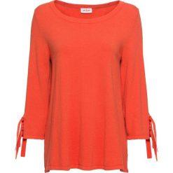 Sweter ze sznurowaniem, rękawy 3/4 bonprix mandarynkowy. Swetry damskie marki bonprix. Za 79.99 zł.