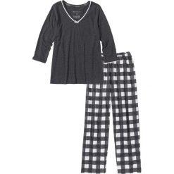 Piżama bonprix antracytowy melanż - biel wełny. Piżamy damskie marki MAKE ME BIO. Za 69.99 zł.