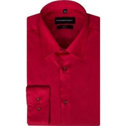 Koszula SIMONE KDTS000169. Czerwone koszule męskie Giacomo Conti, z bawełny, z klasycznym kołnierzykiem, z długim rękawem. Za 169.00 zł.