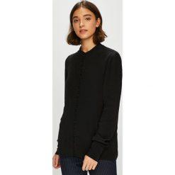 Vero Moda - Koszula. Czarne koszule damskie Vero Moda, z tkaniny, casualowe, z długim rękawem. Za 169.90 zł.