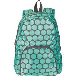 """Plecak """"Dots"""" w kolorze zielono-szarym - 35 x 40 x 10 cm. Torby i plecaki dziecięce Moses. W wyprzedaży za 47.95 zł."""