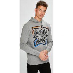 Trussardi Jeans - Bluza. Szare bluzy męskie TRUSSARDI JEANS, z nadrukiem, z bawełny. W wyprzedaży za 299.90 zł.