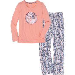 Piżama bonprix jasny koralowy z nadrukiem. Piżamy damskie marki MAKE ME BIO. Za 69.99 zł.