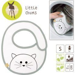 Śliniak Bawełniany Wodoodporny Little Chums Kot. Szare śliniaki dla dzieci Lassig, z bawełny. Za 31.99 zł.