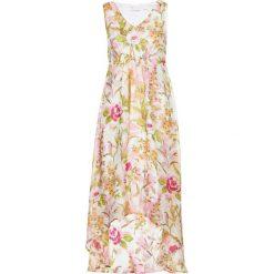 Sukienka z nadrukiem bonprix cytrynowy sorbetowy - pudrowy jasnoróżowy z nadrukiem. Żółte sukienki damskie bonprix, z nadrukiem. Za 54.99 zł.