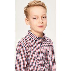 Bawełniana koszula w kratę - Czerwony. Koszule dla chłopców marki bonprix. W wyprzedaży za 99.99 zł.