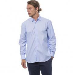 Koszula w kolorze błękitnym. Niebieskie koszule męskie Roberto Cavalli, Trussardi, z klasycznym kołnierzykiem. W wyprzedaży za 199.95 zł.