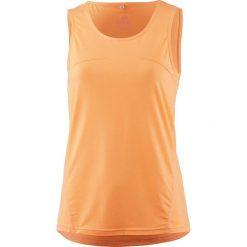 Top funkcyjny w kolorze pomarańczowym. Brązowe topy damskie OCK, z materiału, z okrągłym kołnierzem. W wyprzedaży za 43.95 zł.