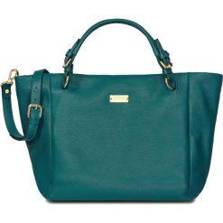 PROMOCJA. Zielone torebki shopper damskie W.KRUK, w paski, ze skóry. W wyprzedaży za 1,249.00 zł.
