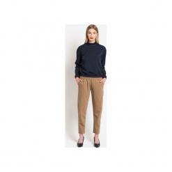 Spodnie WOOLLY CAMEL LTD. - wełna. Brązowe spodnie materiałowe damskie True color by ann, z tkaniny. Za 329.00 zł.