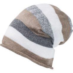 Czapka bonprix szaro-jasnoszary -beżowy-biel wełny. Czapki i kapelusze damskie marki WED'ZE. Za 29.99 zł.