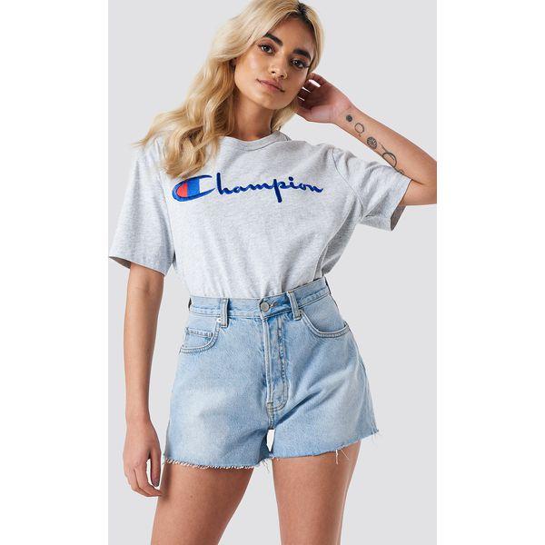 8f3400df NA-KD Trend Jeansowe spodenki z wysokim stanem - Blue